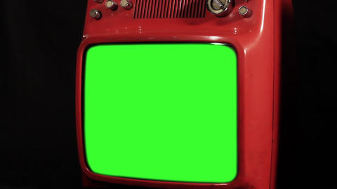 Old Tv With Green Screen. Zoom Out ライブ動画