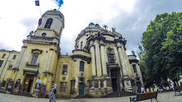 Dominican Church and Monastery in Lviv, Ukraine Footage