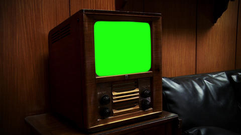 An Old Tv With Green Screen ライブ動画