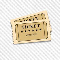 Retro cinema tickets on white background, vector ベクター