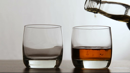 Glasses of whisky Footage