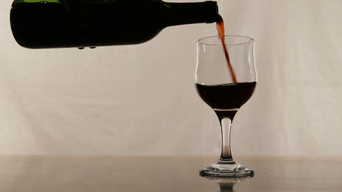 Red wine pouring Footage