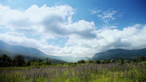 Crimean Mountain Landscape stock footage