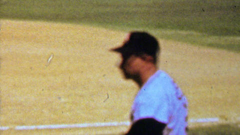 1961: Roy Sievers Chicago White Sox baseball pitcher player warming up Footage