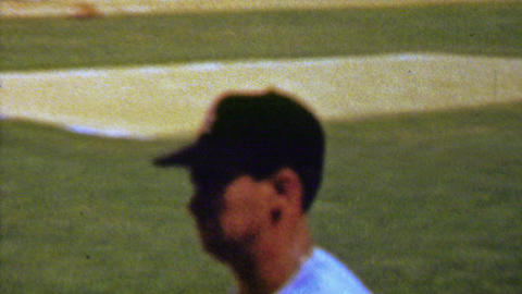 1961: Luis Aparicio Chicago White Sox baseball player warming up Footage
