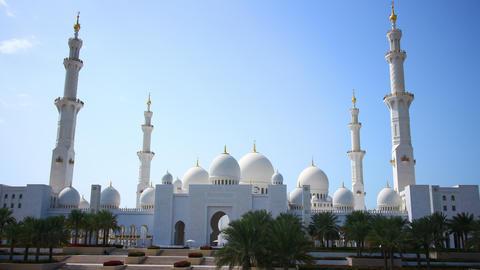 dubai main mosque day light 4k time lapse Footage