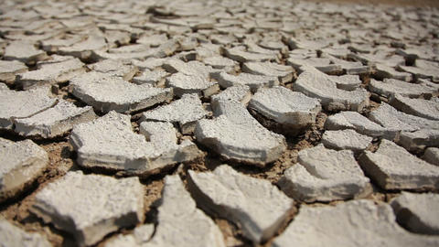 Dry and Cracked Soil, Close Up Footage