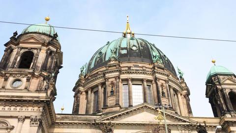 Berlin Timelapse - Berlin Cathedral - Berliner Dom Hyperlapse Motion Time Lapse Footage