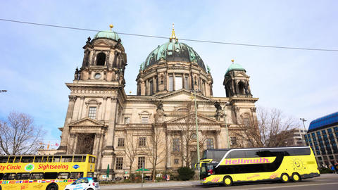 Berlin Timelapse - Berlin Cathedral - Berliner Dom Hyperlapse Motion Time Lapse Footage