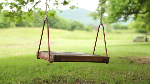 Lonely Swing Swaying Footage
