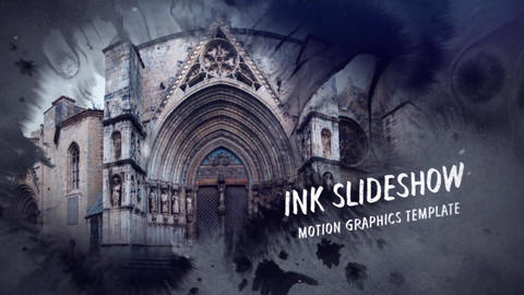 Ink Slideshow After Effects Template
