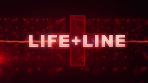 Life+Line - Medical Logo Stinger After Effectsテンプレート