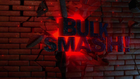 Bulk Smash! - Explosive Text Through Wall Logo Stinger After Effectsテンプレート