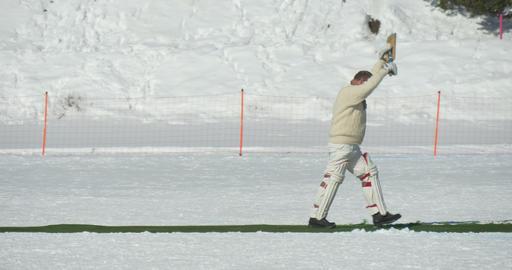 cricket on ice run Footage
