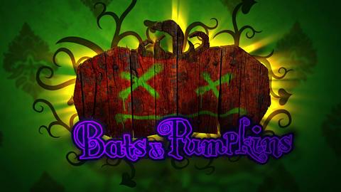 Bats & Pumpkins - Halloween Pumpkin Logo Stinger Plantilla de After Effects