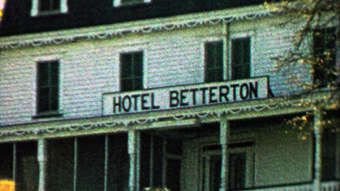 1967: Historic Hotel Betterton white colonial style building Footage