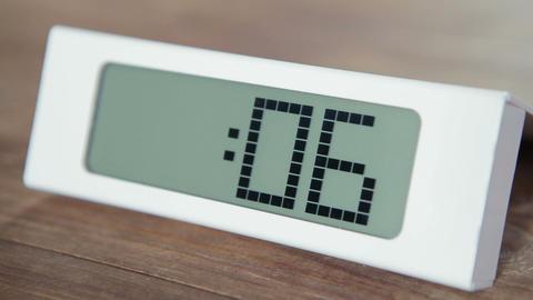 Digital Countdown Clock Footage