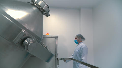 Modern pharmaceutical equipment in the laboratory Live Action