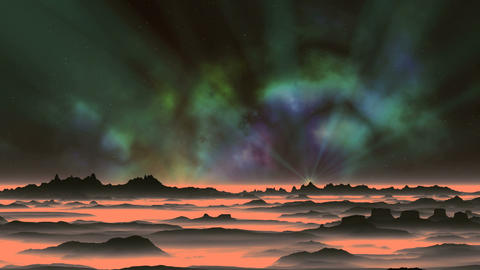 Shining Star and Beautiful Nebula Animation