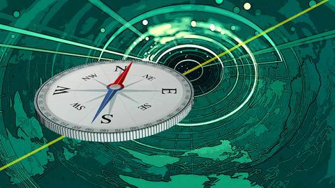 Compass alert alarm danger Footage