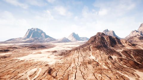 Timelapse view over a beautiful desert redrock canyon. 4K CG動画素材