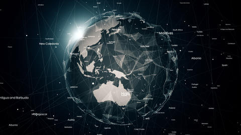 Global network connections around the earth Stock Video Footage