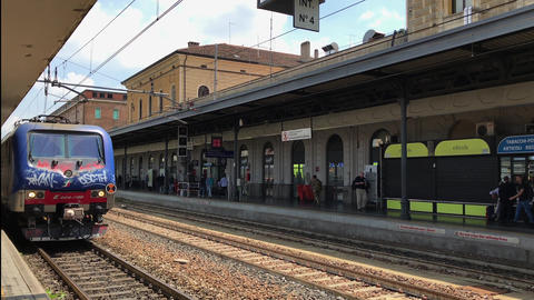 Bologna, Italy train station day view Footage