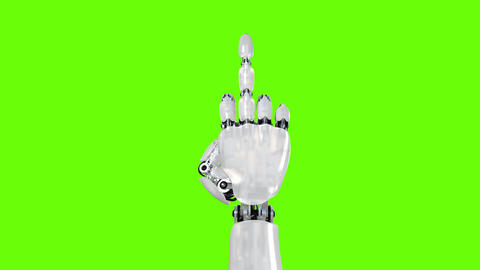 Robot Hand Shows Middle Finger Fuck You Animation