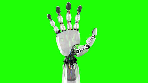 Robotic Hand on a Black and Green Backgrounds Animation