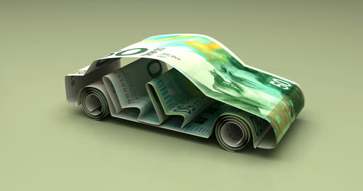 Car Finance with New Israeli Shekel Animation