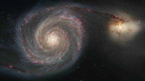 [alt video] 4K NASA Cinemagraph Collection - M51 Whirlpool Galaxy...