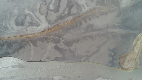 Aerial View Dried Lake and River Stock Video Footage