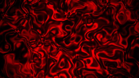 Red Abstract Liquid Metal Fluid Loopable Motion Graphic Background Animation