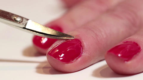 Manicure procedure in beauty salon Footage
