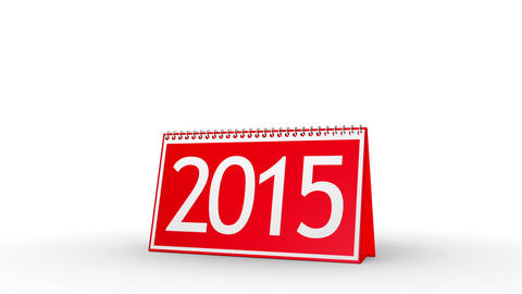 New Year 2016 Calendar (with Matte) Stock Video Footage