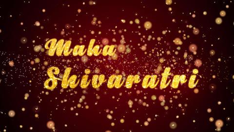 Maha Shivaratri card text shiny particles for celebration,festival Animation