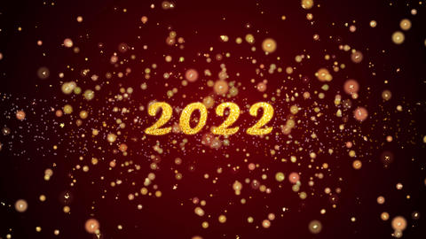 2022 Greeting card text shiny particles for celebration,festival Animation