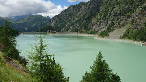 Alpe Gera dam in northern Italy Live Action