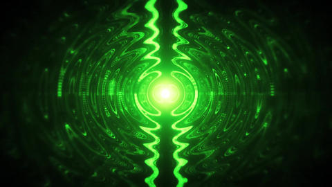 Green Abstract Waves in a Puddle Loopable Motion Background Animación