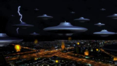 Invasion fiction alien ufo fantasy Footage