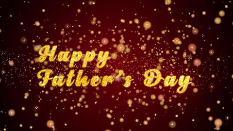 Happy Father's Day Greeting card text shiny particles for celebration,festival Animation