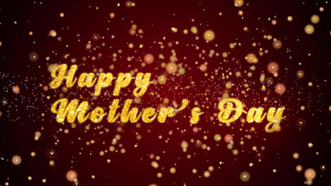 Happy Mother's Day Greeting card text shiny particles for celebration,festival Animation