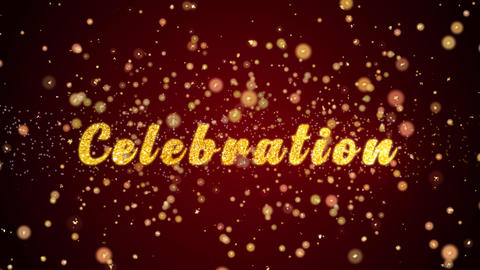 Celebration Greeting card text shiny particles for celebration,festival Animation