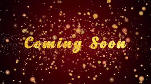 Coming Soon Greeting card text shiny particles for celebration,festival Animation