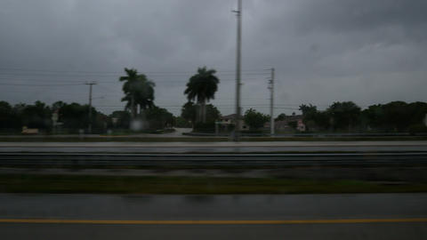 Highway in Florida on a rainy day Footage