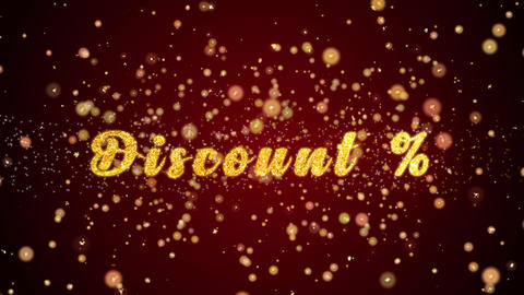 Discount Greeting card text shiny particles for celebration,festival Animation
