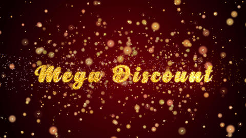 Mega Discount Greeting card text shiny particles for celebration,festival Animation