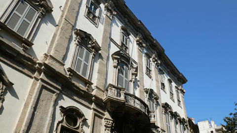 Facade of traditional building in the Brera district Live Action