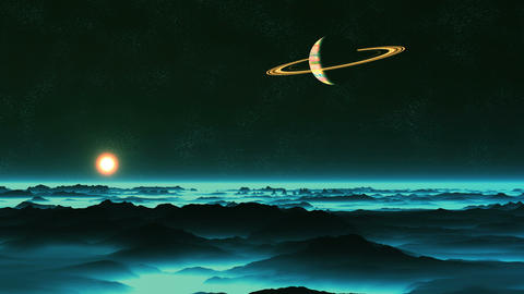 Sunrise on Enceladus Animation