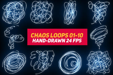 Liquid Elements 3 Chaos Loops 01-10 After Effects Template